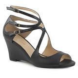 Negro Polipiel 7,5 cm KIMBERLY-04 sandalias tallas grandes