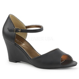 Negro Polipiel 7,5 cm KIMBERLY-05 sandalias tallas grandes