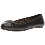 Negro Polipiel ANNA-01 zapatos de bailarinas tallas grandes