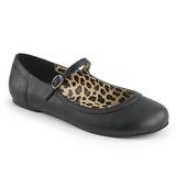 Negro Polipiel ANNA-02 zapatos de bailarinas tallas grandes