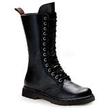 Negro Polipiel DEFIANT-300 Botas de Cordones Hombres