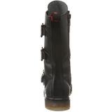 Negro Polipiel DEFIANT-303 Botas de Cordones Hombres