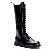 Negro Polipiel DEFIANT-400 Botas de Cordones Hombres