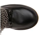 Negro Polipiel DEFIANT-402 Botas de hombres con hebillas