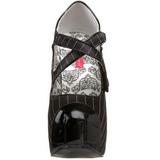 Negro Rayado 14,5 cm Burlesque TEEZE-23 Zapatos de tacón altos mujer