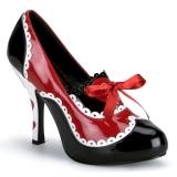 Negro Rojo 10,5 cm QUEEN-03 Zapatos de tacon altos mujer