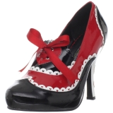 Negro Rojo 10,5 cm QUEEN-03 Zapatos de tacón altos mujer