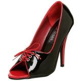 Negro Rojo 12,5 cm SEDUCE-216 Zapatos de tacón altos mujer