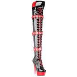 Negro Rojo 15,5 cm MEDIC-3028 Botas Altas Plataforma
