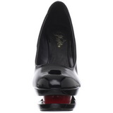 Negro Rojo 15 cm BLONDIE-685 Stiletto Zapatos Tacón de Aguja