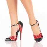 Negro Rojo 15 cm DOMINA-412 Zapatos de tacón altos mujer