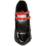 Negro Rojo 15 cm DOMINA-442 Zapatos de tacón altos mujer
