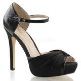 Negro Satinado 12 cm LUMINA-48 Zapato Salón de Noche con Tacon