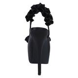 Negro Satinado 14,5 cm TEEZE-56 Zapatos de Tacón Alto