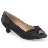 Negro Satinado 5 cm FAB-422 zapatos de salón tallas grandes