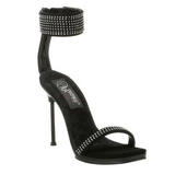 Negro Strass 12 cm CHIC-40 Zapatos Stilettos Tacón de Aguja