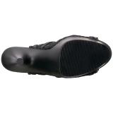 Negro Tela de Encaje 18 cm ADORE-796LC Botines de Cordones Altos Mujer