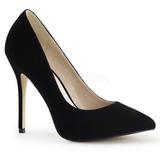 Negro Terciopelo 13 cm AMUSE-20 Zapatos de Salón para Hombres