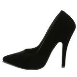 Negro Terciopelo 13 cm SEDUCE-420 Zapatos de Salón para Hombres
