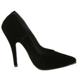 Negro Terciopelo 13 cm SEDUCE-420 zapatos de salón puntiagudos