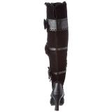 Negro Terciopelo 9,5 cm GLAM-300 Largas Botas Altas Del Muslo