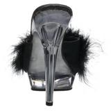 Negro Transparente 13 cm Fabulicious LIP-101-8 Plataforma Mules Altos