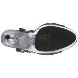 Negro Transparente 14 cm ALLURE-609 Stilettos Tacón de Aguja