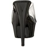 Negro Transparente 15,5 cm DELIGHT-601 Plataforma Mules Altos