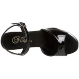 Negro Transparente 15 cm CAPTIVA-609 Plataforma Tacones de Aguja