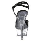Negro Transparente 15 cm Pleaser KISS-209 Plataforma Tacones de Aguja