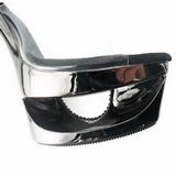 Negro Transparente 16,5 cm Pleaser ECLIPSE-601DM Plataforma Mules Altos