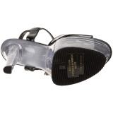 Negro Transparente 18 cm Pleaser SKY-309 Plataforma Tacones de Aguja