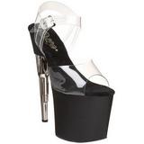Negro Transparente 19 cm BONDGIRL-708 zapatos tacón forma de pistola
