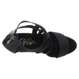 Negro banda elástica 15 cm DELIGHT-669 calzado pleaser con tacón de mujer