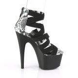 Negro banda elástica 18 cm ADORE-748SP calzado pleaser con tacón de mujer