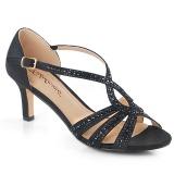 Negro brillo 6,5 cm Fabulicious MISSY-03 sandalias de tacón alto