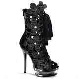 Negro piedra cristal 15 cm FANTASIA-1020 botines mujer con plataforma