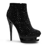 Negro piedra cristal 15 cm FASCINATE-1011 botines mujer con plataforma