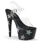 Negro piedra strass 18 cm ADORE-708STAR Zapatos con tacones pole dance