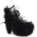 Negro plumas de marabu 18 cm ADORE-708F Zapatos pole dance