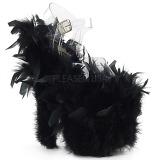Negro plumas de marabu 20 cm FLAMINGO-808F Zapatos pole dance