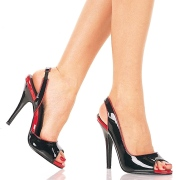 Negro zapatos slingback tacones 13 cm SEDUCE-117