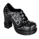 Negros 10 cm VAMPIRE-08 lolita zapatos mujer calzados góticos suela gruesa