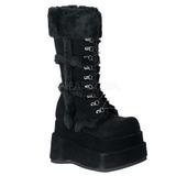 Negros 11,5 cm BEAR-202 lolita botas góticos botas con suela gruesa