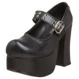 Negros 11,5 cm CHARADE-05 lolita zapatos mujer calzados góticos suela gruesa