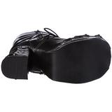 Negros 11,5 cm CHARADE-206 lolita botas góticos botas con suela gruesa