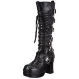 Negros 11,5 cm GOTHIKA-200 lolita botas góticos botas con suela gruesa