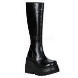 Negros 11,5 cm SHAKER-100 lolita botas góticos botas con suela gruesa