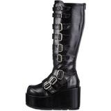 Negros 11 cm CONCORD-108 lolita botas góticos botas con suela gruesa