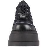 Negros 12,5 cm STOMP-08 lolita zapatos góticos calzados con cuña alta